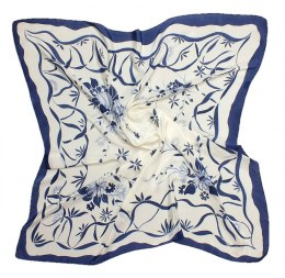 AM-173 Hand-painted silk scarf, 90x90cm
