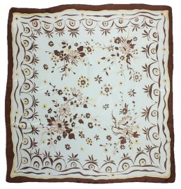 AM-174 Hand-painted silk scarf, 90x90cm
