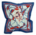 AM-180 Hand-painted silk scarf, 90x90cm