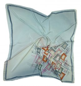 AM-192 Hand-painted silk scarf, 90x90cm