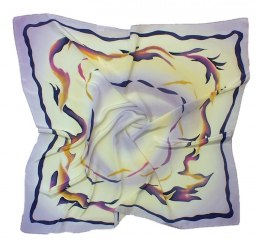 AM-193 Hand-painted silk scarf, 90x90cm