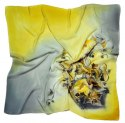 AM-201 Hand-painted silk scarf, 90x90cm (1)