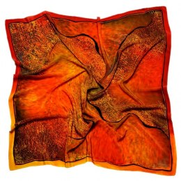 AM7-199 Hand-painted silk scarf, 70x70 cm