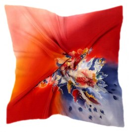 AM-520 Hand-painted silk scarf, 55x55 cm