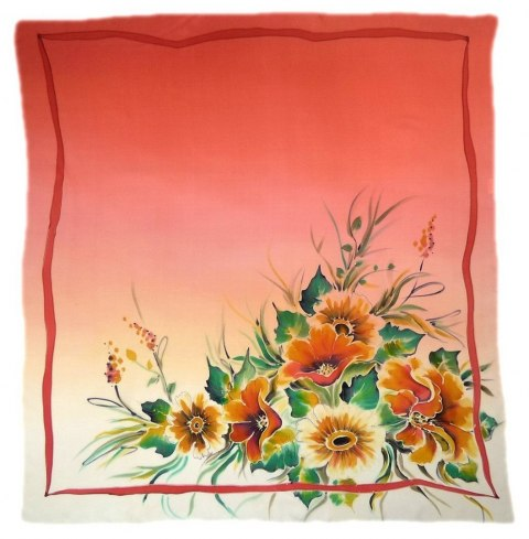 AM-123 Hand-painted Silk Scarf