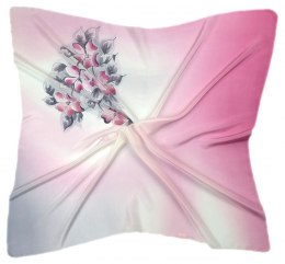 AM-226 Hand-painted silk scarf, 90x90cm