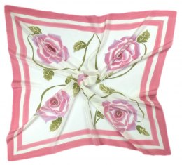 AM-227 Hand-painted silk scarf, 90x90cm