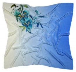 AM-287 Hand-painted silk scarf, 90x90cm