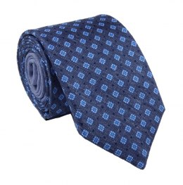 Dark navy blue silk tie with diamonds - MILANO