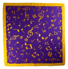 AN-004 Large Silk Scarf with Sheet Music, 85x85 cm