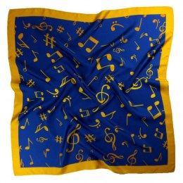 AN-005 Large Silk Scarf with Sheet Music, 85x85 cm