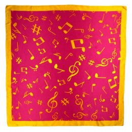 AN-017 Large Silk Scarf with Sheet Music, 85x85 cm