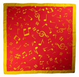 AN-001 Large Silk Scarf with Sheet Music, 85x85 cm